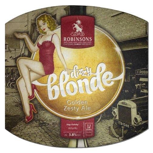 Robinsons Dizzy Blonde Beer Mat
