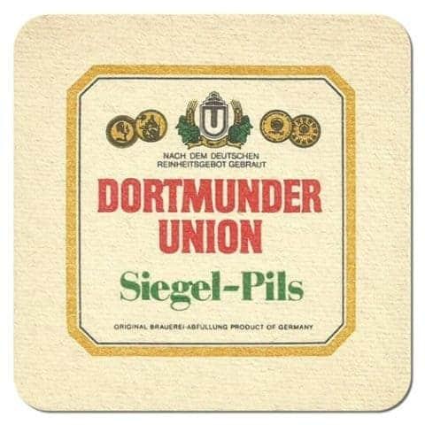 Dortmunder Union Siegel Pils Beer Mat