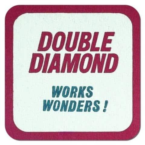 Double Diamond Beer Mat