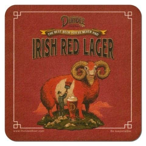 Dundee Irish Red Lager Beer Mat Front