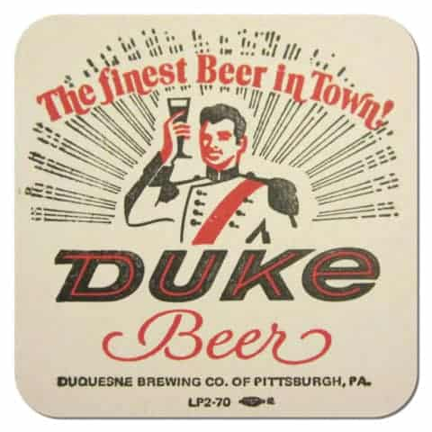 Duquesne Brewing - Duke Beer Beer Mat