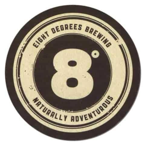 Eight Degrees Brewing Beer Mat