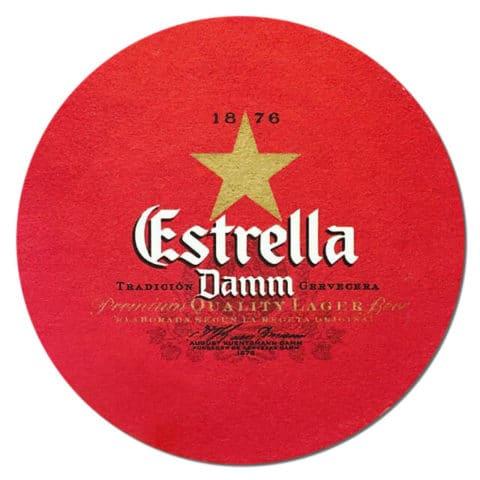 Estrella Damm Beer Mat