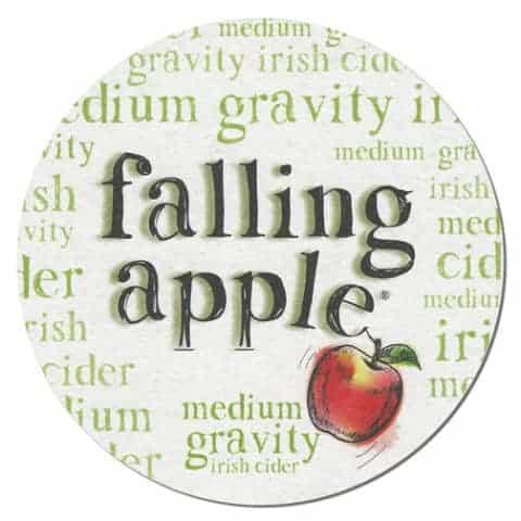 Falling Apple Drip Mat Front