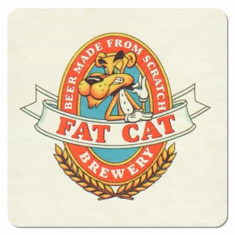 Fat Cat Brewery Beer Mat