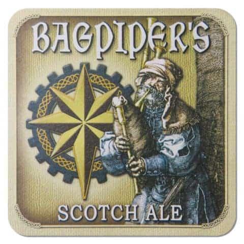 Bagpiper's Scotch Ale Beer Mat