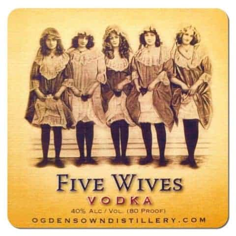 Five Wives Vodka Coaster