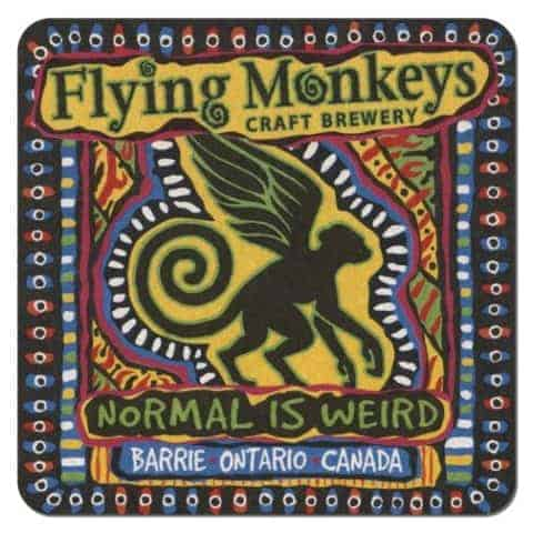 Flying Monkey Beer Mat Front