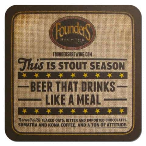 Founders Stout Beer Mat