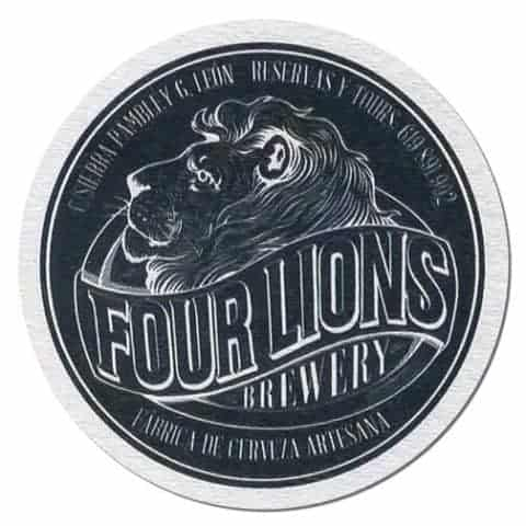 Four Lions Brewery Beer Mat