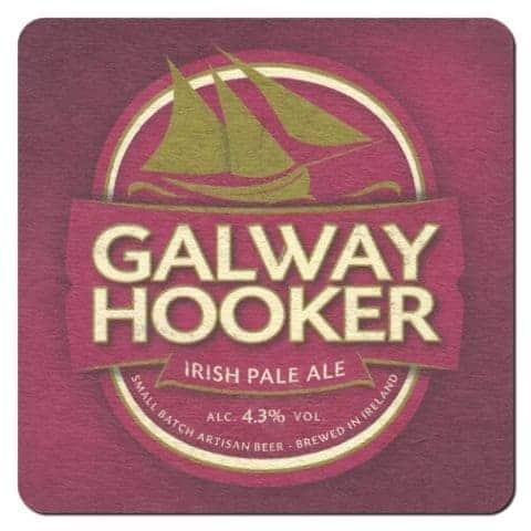 Galway Hooker Beer Mat Front