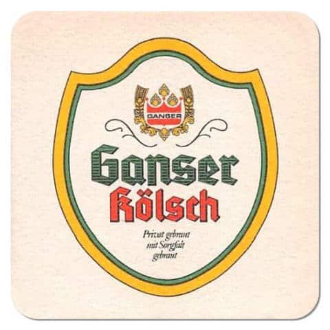Ganser Kölsch Beer Mat