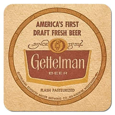 Gettelman Beer Mat