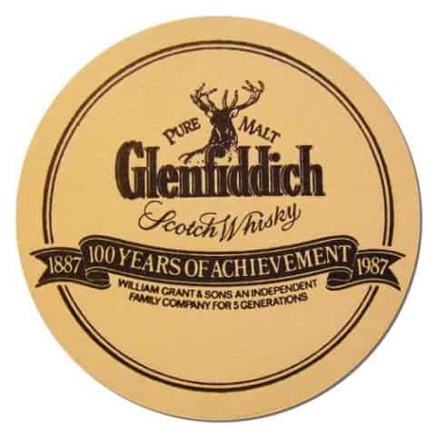 Glenfiddich Scotch Whisky Coaster Front