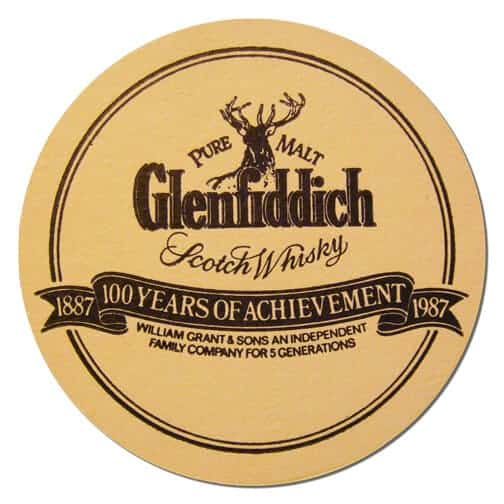 Glenfiddich Scotch Whisky Coaster Front