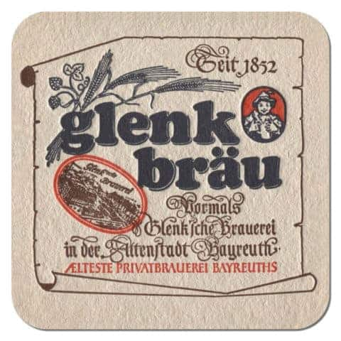 Glenk Brau Beer Mat
