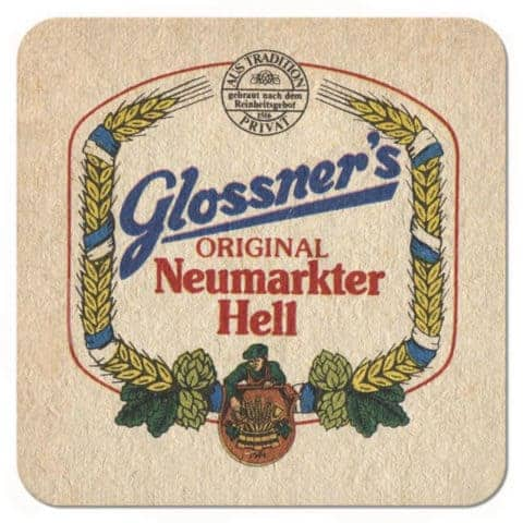 Glossners Beer Mat