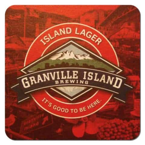 Granville Island Brewing Beer Mat