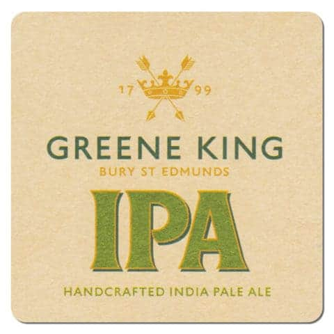 Green King IPA Beer Mat