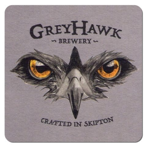 Grey Hawk Brewery Beer Mat
