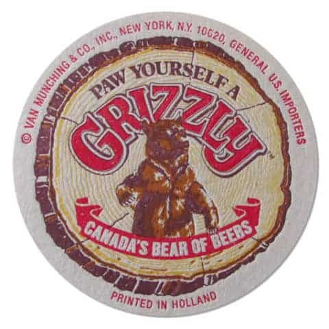 Grizzly Beer Coaster