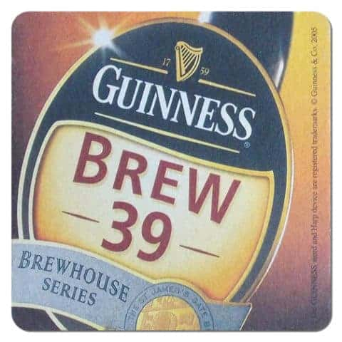 Guinness Brew 39 Beer Mat