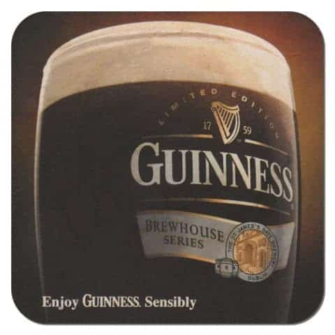 Guinness Brewhouse Beer Mat Front