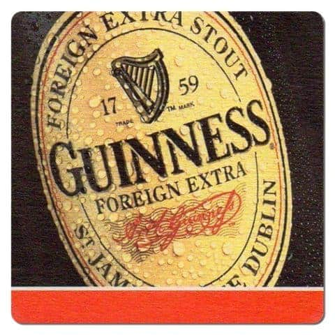 Guinness Foreign Extra Stout Beer Mat