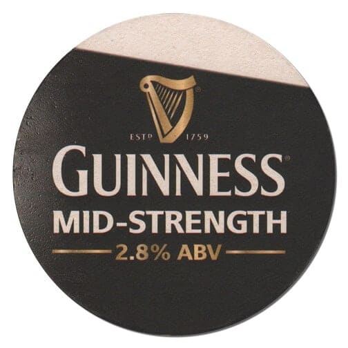 Guinness Mid Strength Beer Mat Front