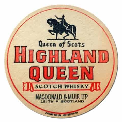HIghland Queen Scotch Whisky Coaster