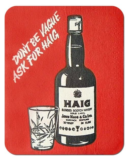 Haig Scotch Whisky Coaster