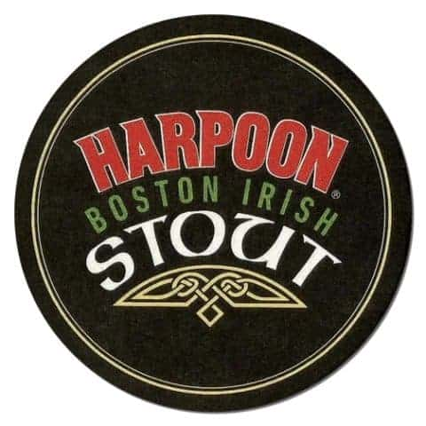 Harpoon Stout Beer Mat Front