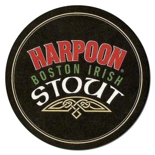 Harpoon Stout Beer Mat Front