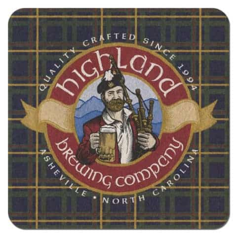 Highland Brewing Beer Mat Front