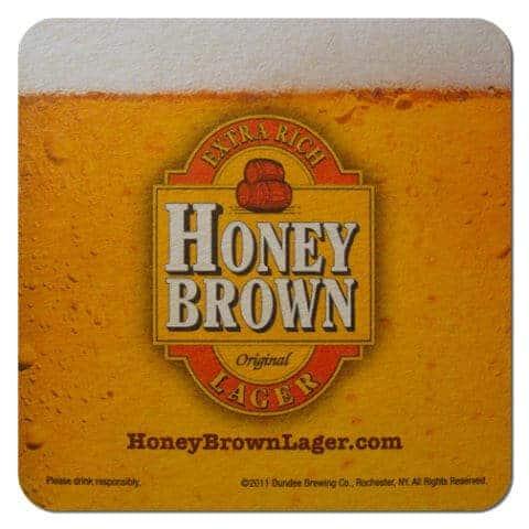 Honey Brown Beer Mat Front