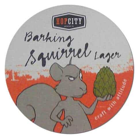 Hop City Brewing - Barking Squirrel Lager Beer Mat