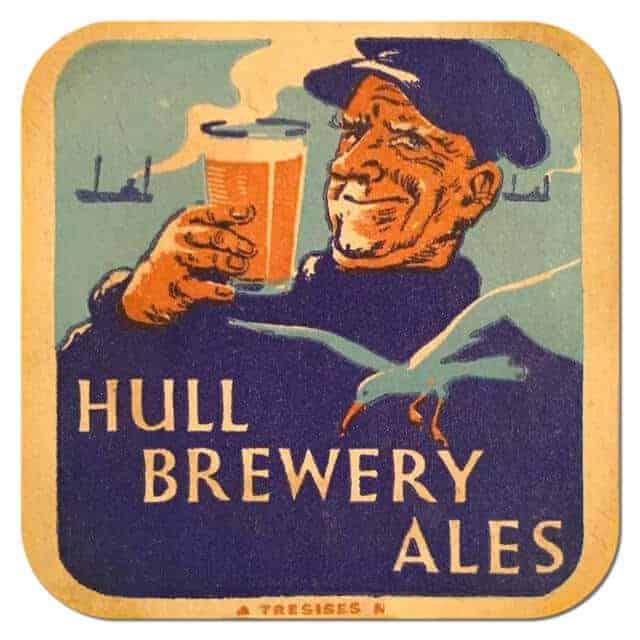 Hull Brewery Ales Beer Mat