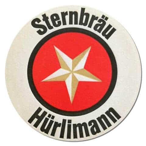 Hurlimann Sternbrau Beer Mat