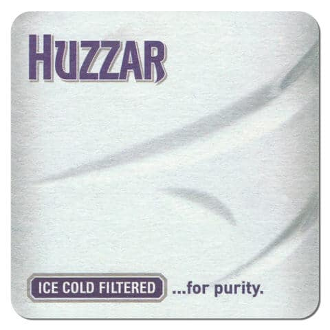 Huzzar Vodka Coaster Front