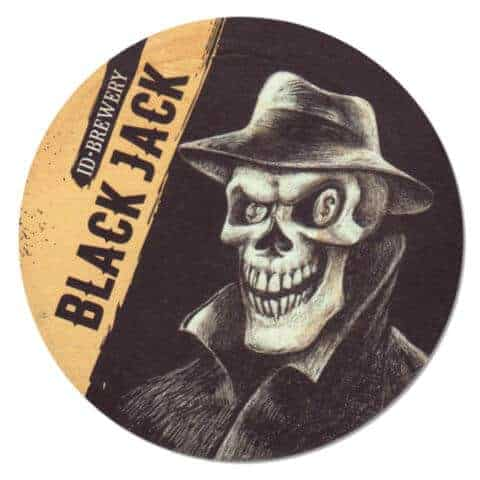 ID Brewery - Blackjack Beer Mat