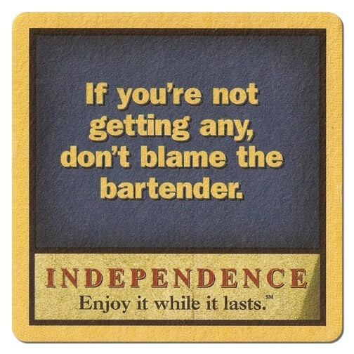 Independence Beer Mat Front