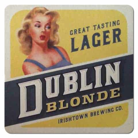 Irishtown Brewing - Dublin Blonde Beer Mat