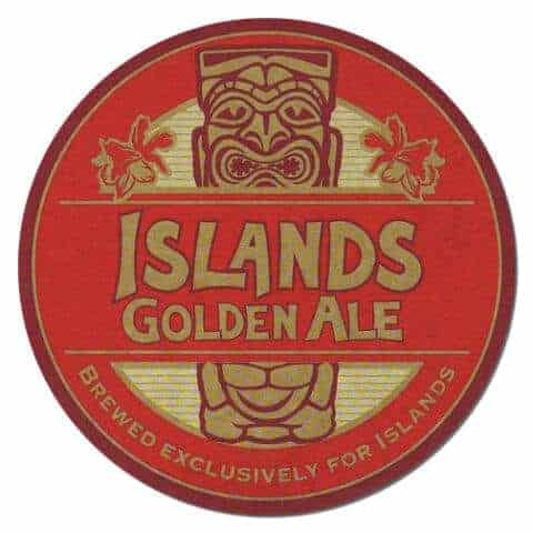 Islands Golden Ale Beer Mat