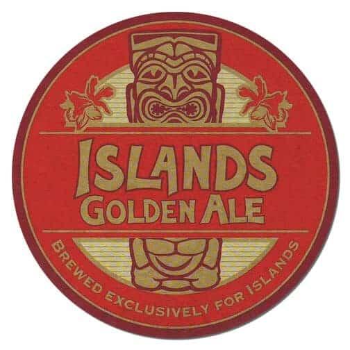 Islands Golden Ale Beer Mat