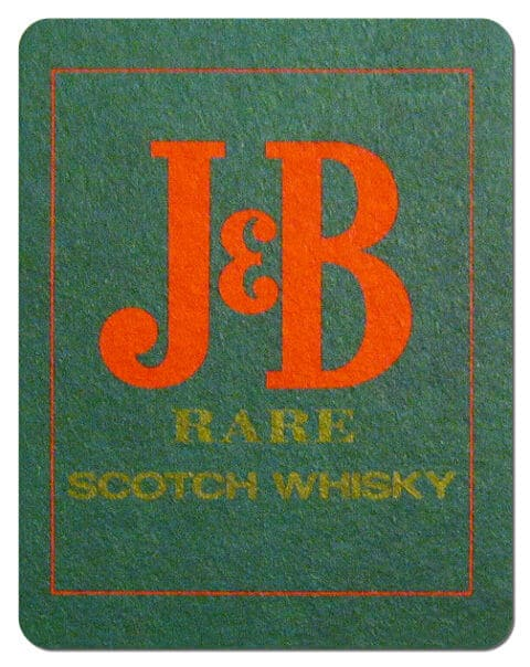 J&B Scotch Whiskey Coaster