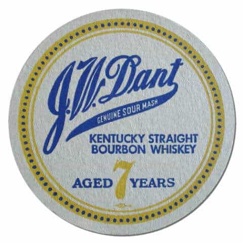 JW Dant Bourbon Whiskey Coaster