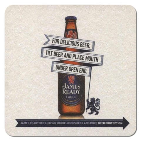 James Ready Lager Beer Mat
