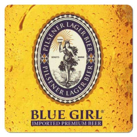 Jensen Blue Girl Beer Drip Mat