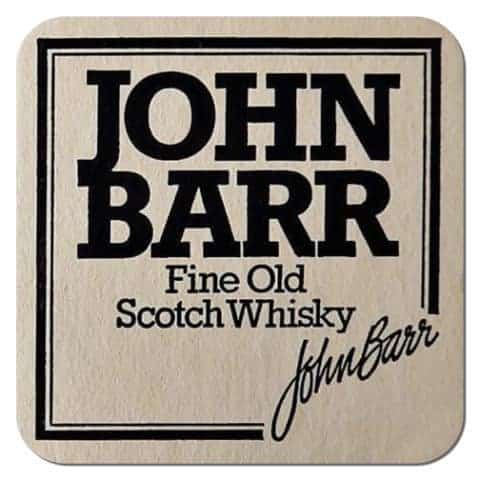John Barr Scotch Whiskey Coaster