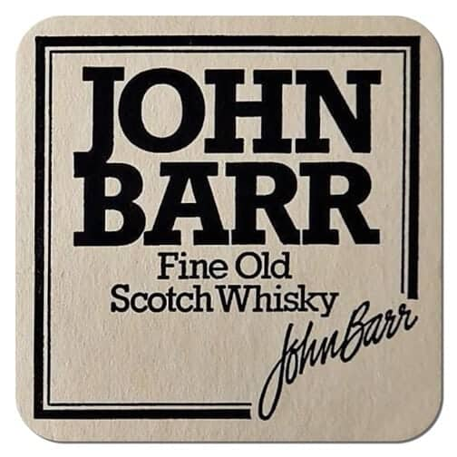 John Barr Scotch Whiskey Coaster
